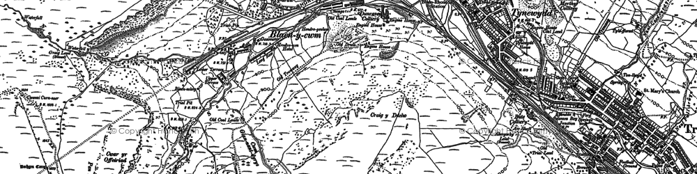 Old map of Blaencwm in 1897