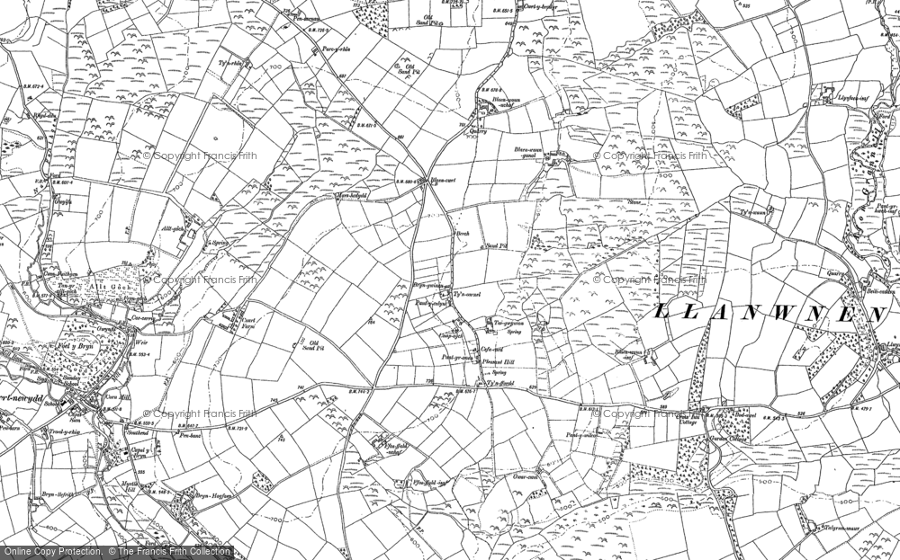 Old Map of Historic Map covering Alltgoch in 1887