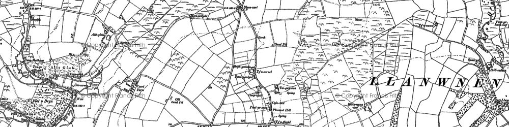Old map of Alltgoch in 1887