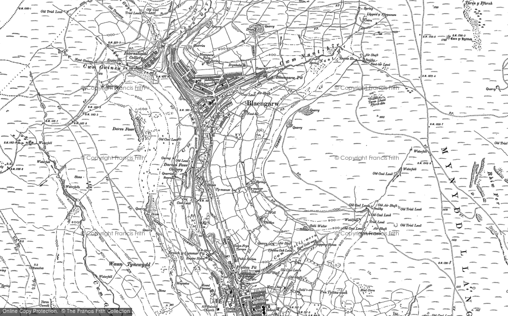 Old Map of Blaengarw, 1897 in 1897