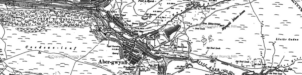Old map of Blaengwynfi in 1897