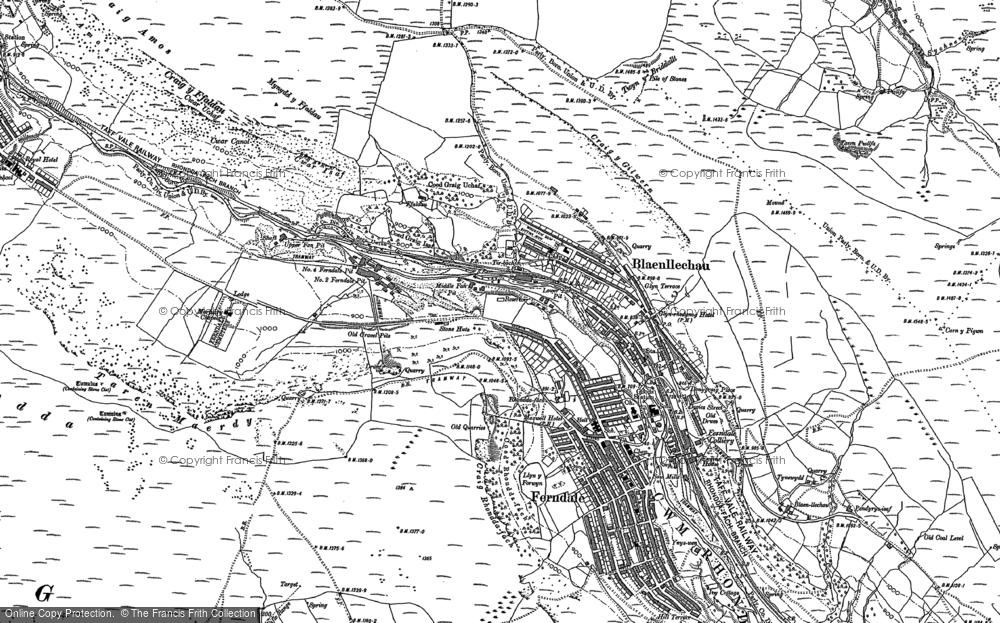 Old Map of Blaenllechau, 1897 - 1898 in 1897