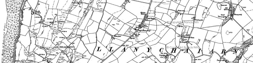 Old map of Blaenplwyf in 1904