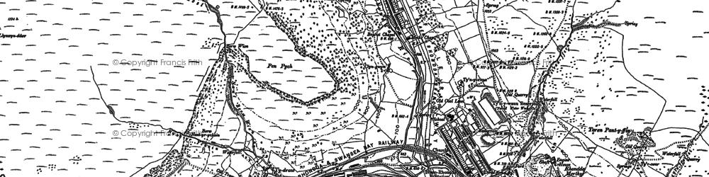 Old map of Blaenrhondda in 1897