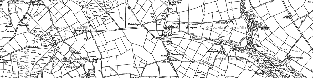 Old map of Blaenwaun in 1887