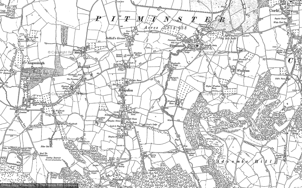 Old Map of Historic Map covering Adcombe Hill in 1903