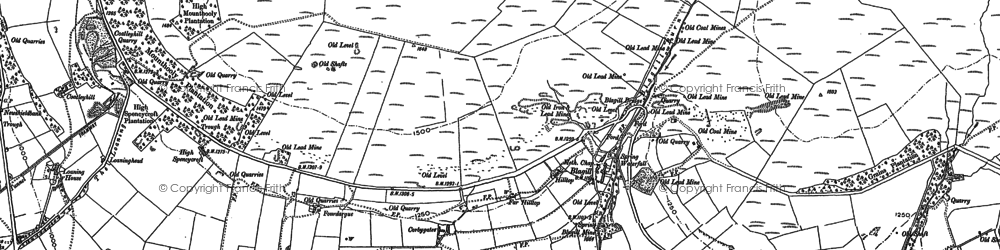 Old map of White Lea in 1898