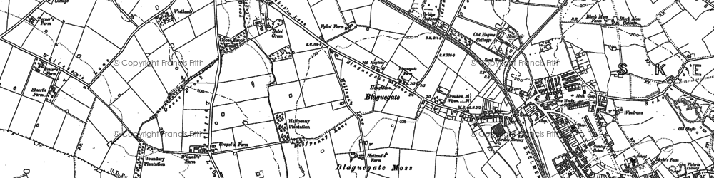 Old map of Blaguegate in 1891