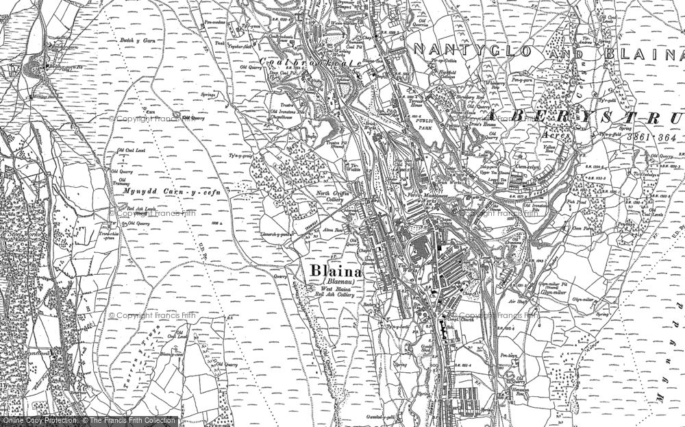 Map of Blaina, 1899 - 1916