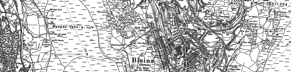 Old map of West Side in 1899