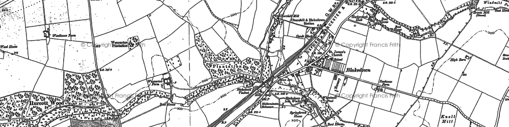 Old map of Blakedown in 1882