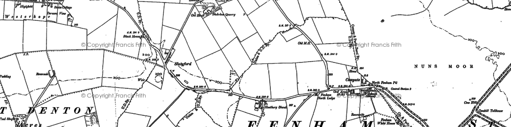 Old map of Blakelaw in 1894