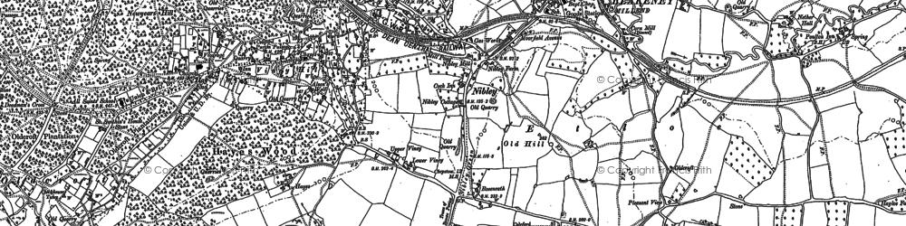 Old map of Blakeney in 1879