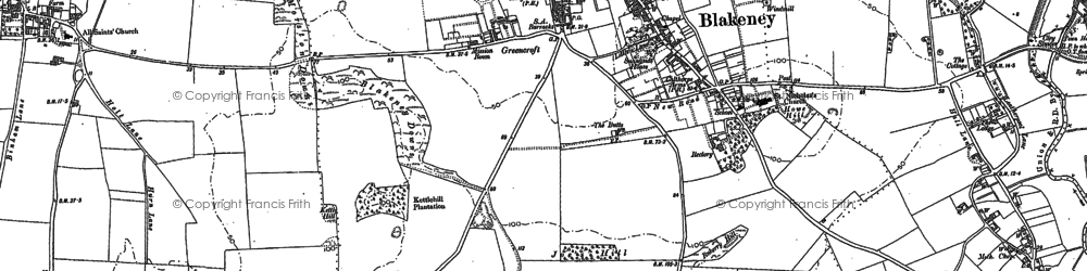 Old map of Agar Creek in 1886