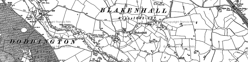 Old map of Lea Hall in 1897