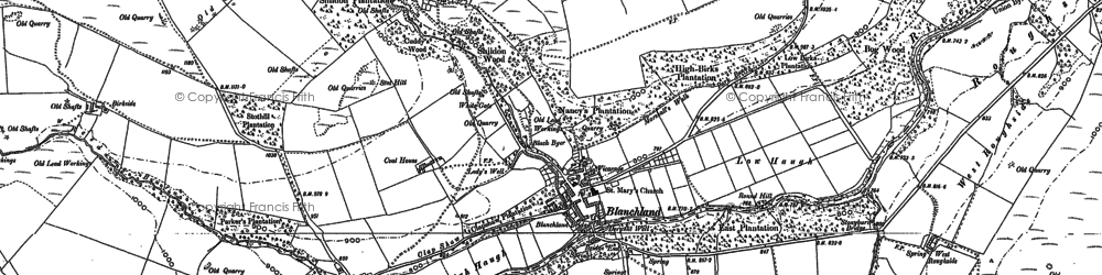 Old map of Allenshields in 1895