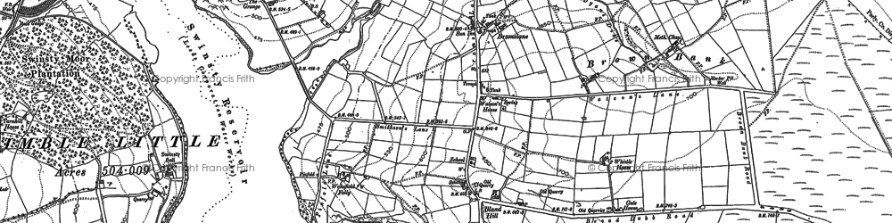 Old map of Bank Slack in 1907