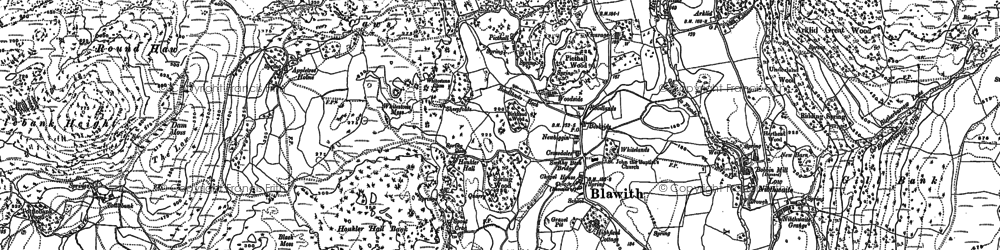 Old map of White Borran in 1911
