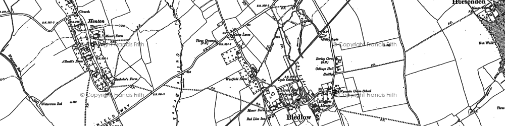 Old map of Bledlow in 1897
