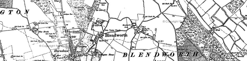 Old map of Blendworth in 1907
