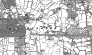 Old Map of Bletchingley, 1895