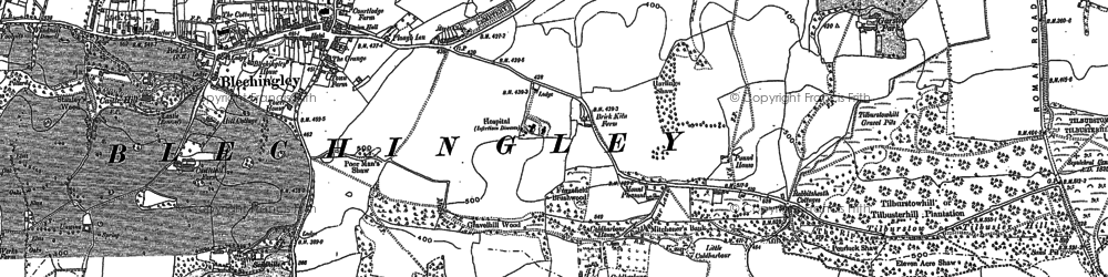 Old map of Wychcroft Ho in 1895