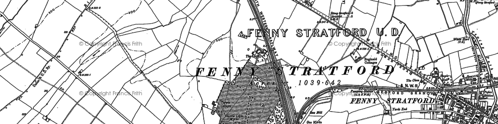 Old map of Bletchley in 1924
