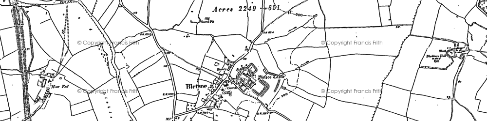 Old map of Wigney Wood in 1882