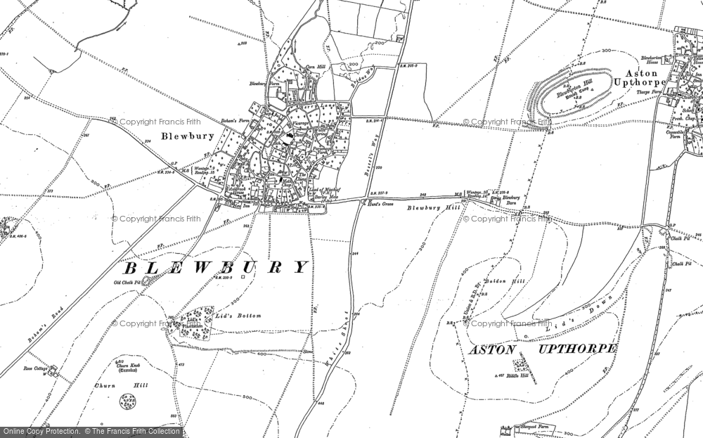 Old Map of Historic Map covering Langdon Hill in 1898