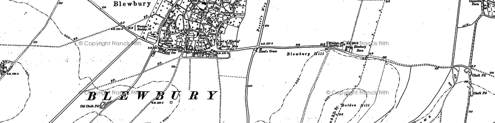Old map of Blewbury in 1898