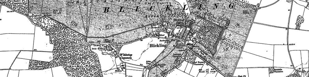 Old map of Abel Heath in 1885