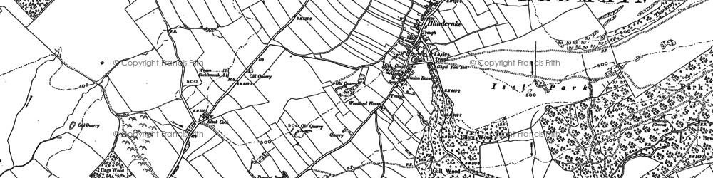 Old map of Laol Moota in 1899