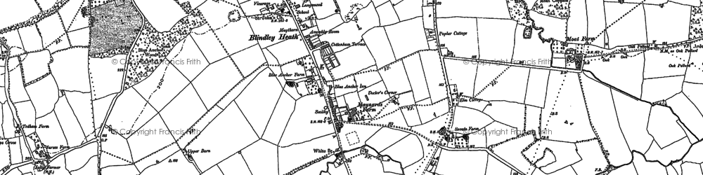 Old map of Blindley Heath in 1895