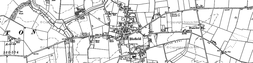 Old map of Witton Br in 1881