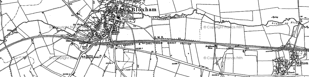 Old map of Bloxham in 1898