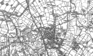 Old Map of Bloxwich, 1883 - 1885