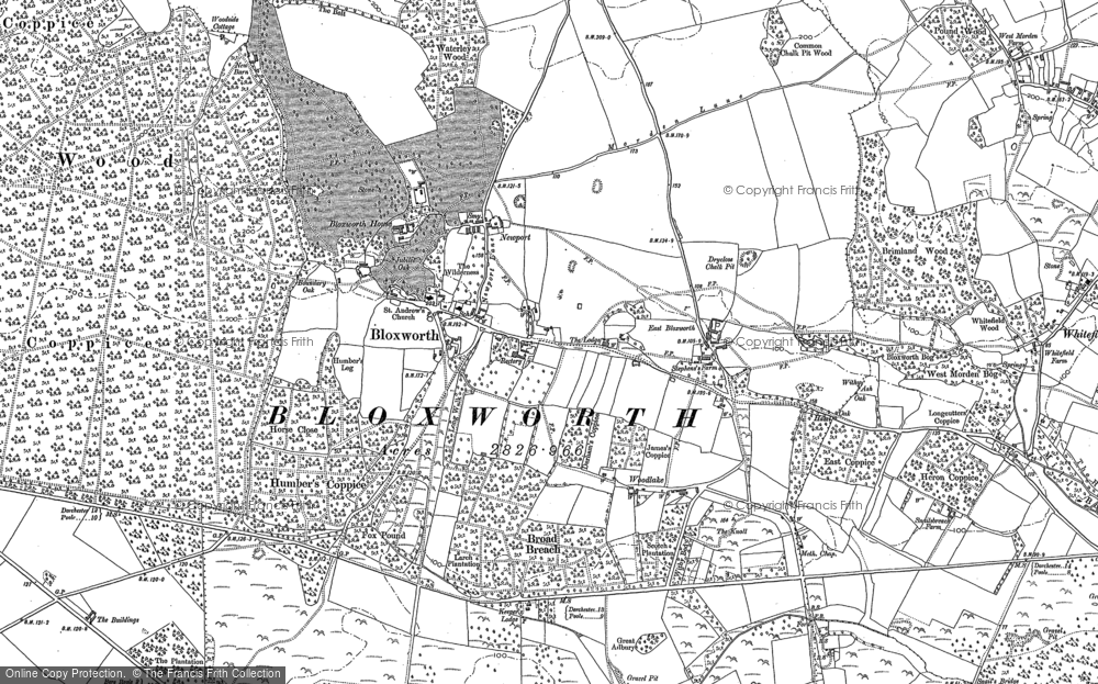 Old Map of Historic Map covering Newport in 1887