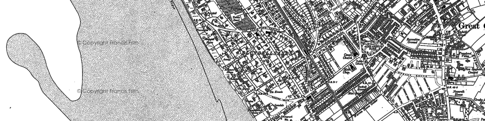 Old map of Blundellsands in 1907