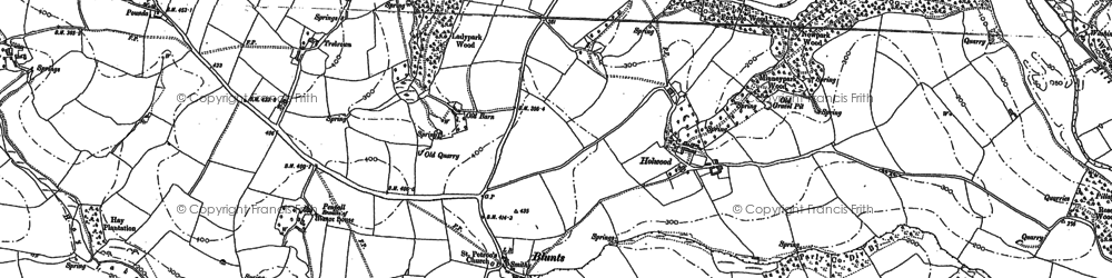 Old map of Blunts in 1882