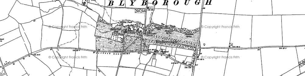 Old map of Blyborough in 1885