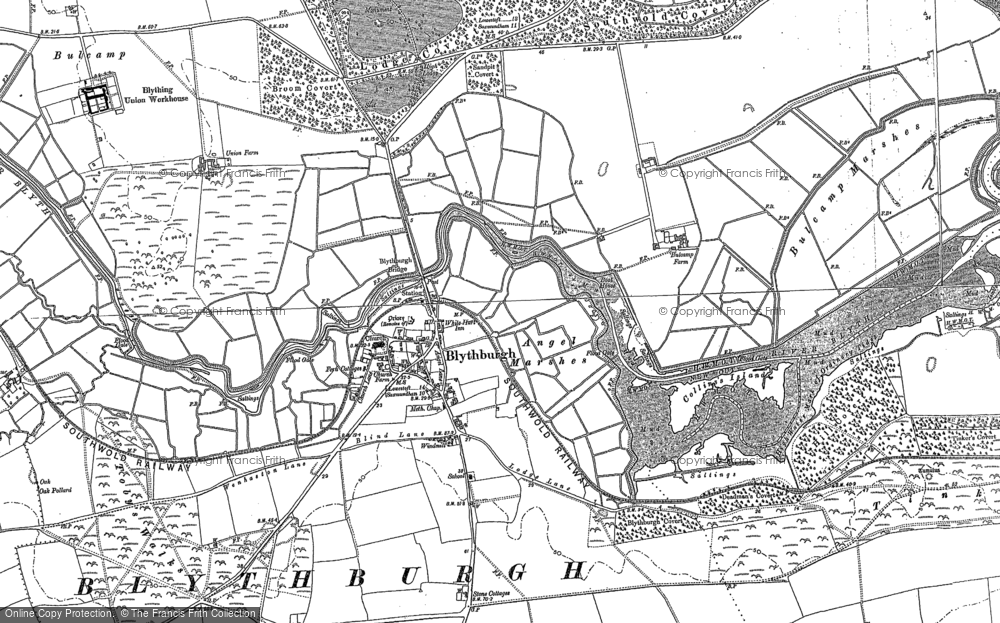 Old Map of Historic Map covering Toby's Walks in 1883
