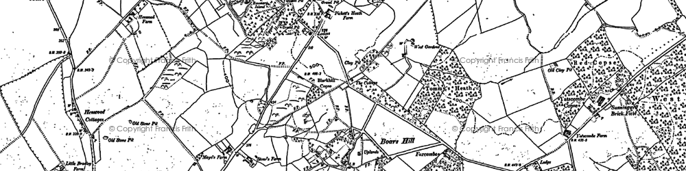 Old map of Youlbury Wood in 1910