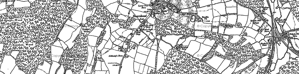 Old map of Aldwick Grange in 1897