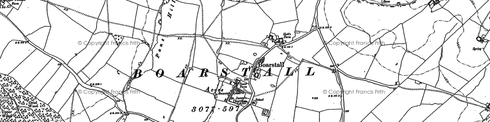 Old map of Boarstall in 1919