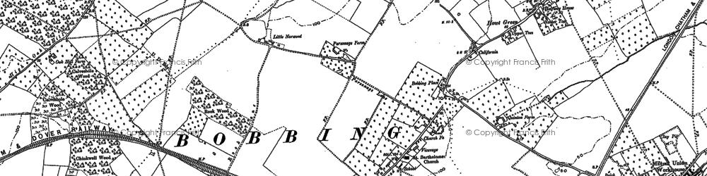 Old map of Bobbing in 1896