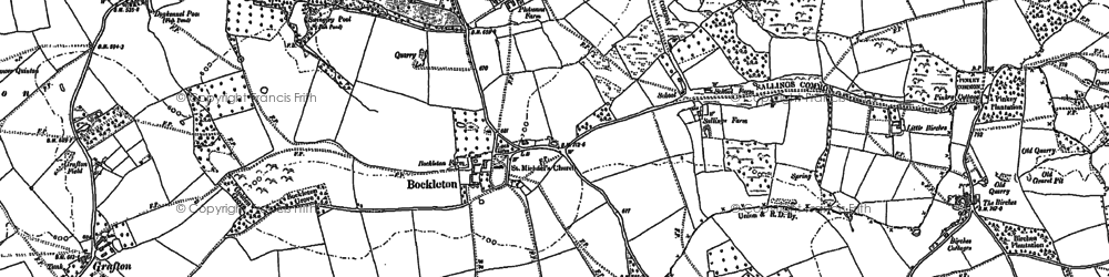 Old map of Weston Fm in 1885