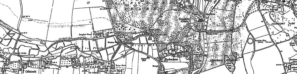 Old map of Bodenham in 1899