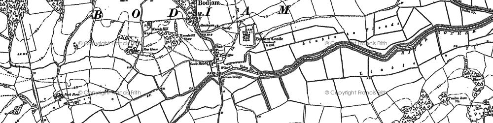 Old map of Bodiam in 1908