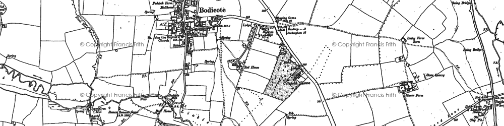 Old map of Bodicote in 1898