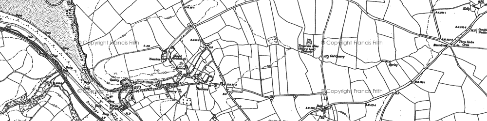 Old map of Bodieve in 1880